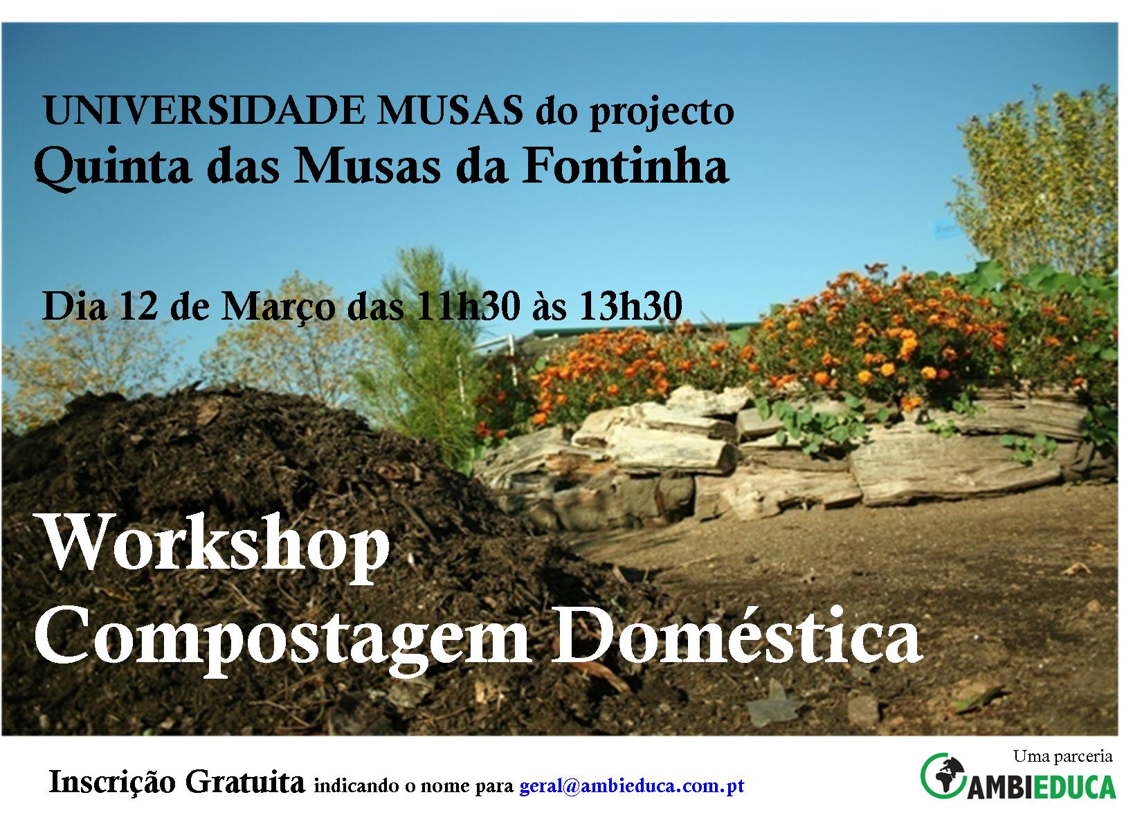 WORKSHOP DE COMPOSTAGEM DOMÉSTICA
